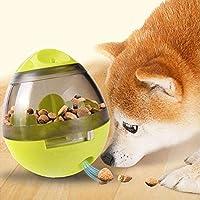 Ginkago Dog Treat Ball, Dog Food Dispenser Toy Slow Eating Dog Food Bowel Dog Foraging Toy (Green)