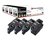 4 Reton Toner |30% höhere Druckleistung | kompatibel zu Dell E525w - 593-BBLN 593-BBLL 593-BBLZ 593-BBLV Kapazität: Schwarz 2600 Seiten - Farben 1820 Seiten