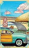 Northwest Art Mall ed-6061türkis Woody Print von Künstler Evelyn Jenkins Drew, 27,9x 43,2cm