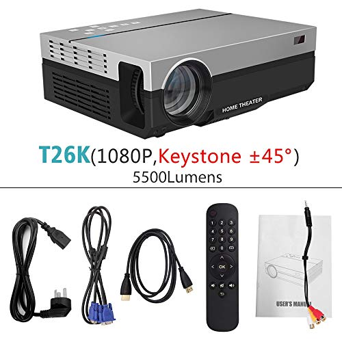 SMEI 3D Beamer Full Hd Projector T26k Native 1080p 5500 Lumens Video Led LCD Home Cinema Theater USB Tv T26K 45Degree Lcd Ceiling Support