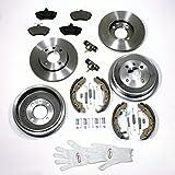 Autoparts-Online Set 60004391 Bremsen/Bremsscheiben + Bremstrommel Set für Vorne + Hinten