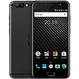 Ulefone T1 - 5,5 pulgadas FHD 4G versión global Android 7.0 Smartphone, Helio P25 CPU Octa Core 2.6GHz, 6GB RAM + 64GB ROM, Triple cámaras (13MP + 5MP + 16MP), GPS - Negro