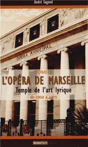 L'opéra de Marseille de 1924 à nos jours