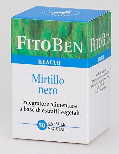 Fitoben - Mirtillo Nero Integratore Alimentare Naturale Per La Circolazione E La Salute Degli Occhi 50 Cps
