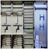TM: 12075: Hager Zählerschrank 2x 3.HZ Zähler + 1x Verteiler + 1x Multimediafeld 1-feldrig ZB34S