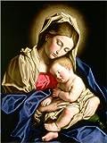 Cuadro sobre lienzo 30 x 40 cm: Madonna and Child de Il Sassoferrato / Bridgeman Images - cuadro terminado, cuadro sobre bastidor, lámina terminada sobre lienzo auténtico, impresión en lienzo