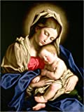 Posterlounge Lienzo 30 x 40 cm: Madonna and Child de Il Sassoferrato/Bridgeman Images - Cuadro Terminado, Cuadro sobre Bastidor, lámina terminada sobre Lienzo auténtico, impresión en Lienzo