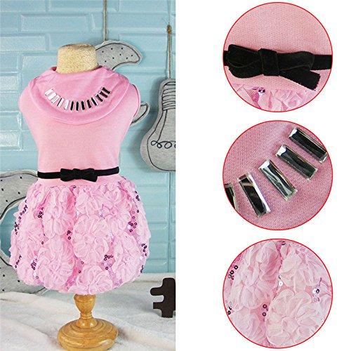 Mabao Luxus rosa Spitze Pet Hochzeit Kleidung Shirts, Hündchen Printed Princess Rock, Haustiere...