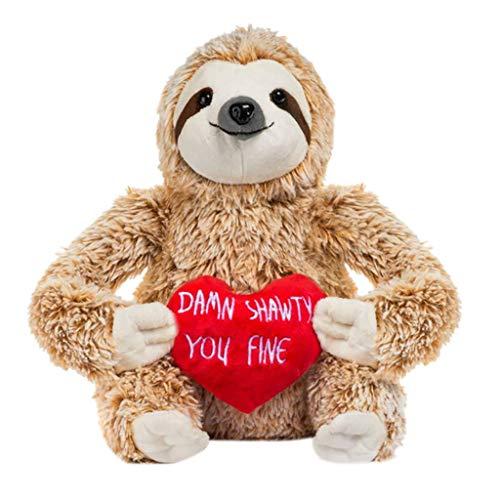 Omiky Faultier Bär Valentinstag gefüllt Tier Freundin Geschenk Valentinstag Baum Slot Plüschtier Stofftier Stofftier für Kleinkind / Babys / Home Decor Geeignet für Frauen und Kinder