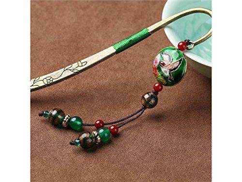 JxucTo Design creativo Segnalibro di metallo antico stile vintage segnalibro in metallo con nappe per regalo