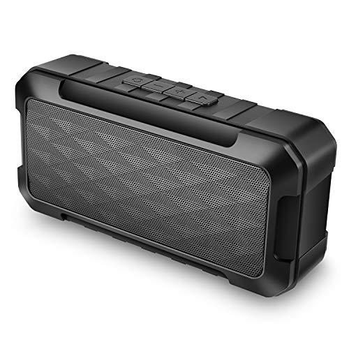 Bluetooth Lautsprecher, TWS Tragbarer Outdoor Lautsprecher mit HD Stereoton und Reich Bass, FM Radio, SD und TF Kartenslot, 10 Stunden Exzellenter Sound, 10W Tragbarer Lautsprecher fur Garten, Indoor