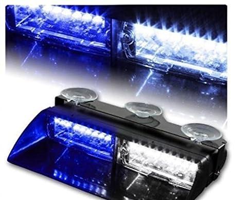 anzene16LED High Intensity LED Gesetzeshüter Notfall Hazard ACHTUNG Stroboskoplicht 18Modi für Innen Dach/Dash/Windschutzscheibe mit Saugnäpfen
