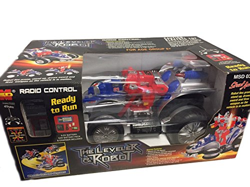 Preisvergleich Produktbild Space Car / mit Roboterfunktion / Ferngesteuert / The Leveler & Robot / blau / rot / silber