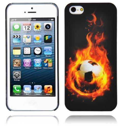 Cadorabo - Hard Cover für >          Apple iPhone 5 / 5S / SE          < - Case Cover Schutz-Hülle Bumper im Design: FOOTBALL FOOTBALL