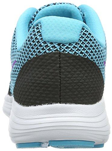 Nike Damen Revolution 3 Laufschuhe Schwarz (Black/Hypr Violet-Gmm Bl-White)