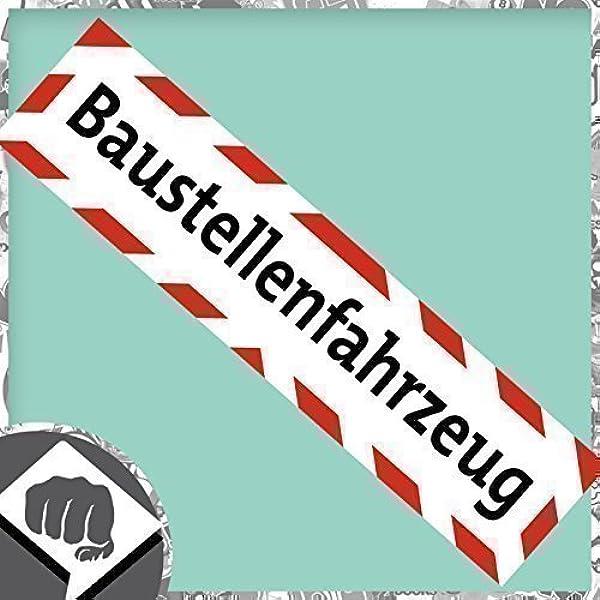Baustellenfahrzeug Aufkleber Baustelle Warnhinweis Sticker Dub Dubway Auto
