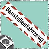 BAUSTELLENFAHRZEUG Aufkleber - Baustelle Warnhinweis Sticker - DUB DUBWAY