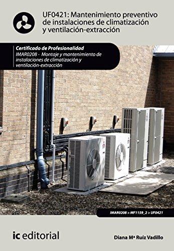 Mantenimiento preventivo de instalaciones de climatización y ventilación-extracción. IMAR0208 por Diana María Ruiz Vadillo