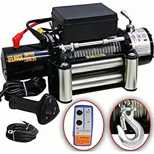 Dms 12 volt electric cable winch 5900 kg motor winch for Paranco elettrico 1000 kg