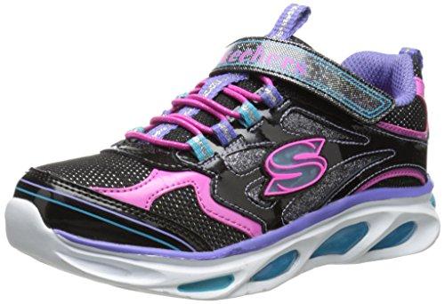 Skechers Blissful, Mädchen Sneakers, Schwarz (BKMT), 33 - Lichter Skechers Mädchen