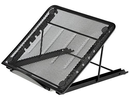 Halter de malla con ventilación ajustable soporte para portátil