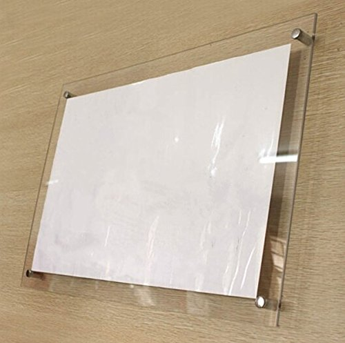 Acrylic - Transparent - 8 x 8 inches - Sandwitch Sheets Board for Display Ads Posters Pictures Information (Needs to be assembled)