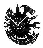Horloge Murale en Vinyle Cadeau Fait Main Décorations Pour la Maison Home Office Carrosserie Construction Automobile Service  Réparation