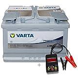 Varta Professional AGM LA70 - 12 V / 70 Ah - 760 A/EN inkl. Batterietester