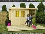 Outdoor Gartenhaus / Flachdachhaus Frodo mit Überdachung