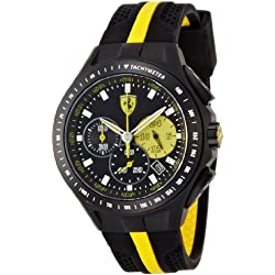 Ferrari Unisex Analogue Watch with Black Dial Analogue Display