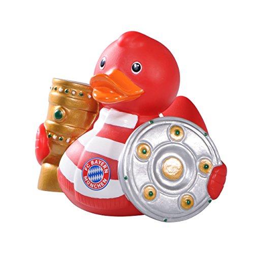 Badeente Erfolge FC Bayern MÜNCHEN FCB + gratis Sticker München forever / FCB / Bade-Ente / Ente / duck, pato del baño, canard de bain (Galaxy-fußball-hemd)