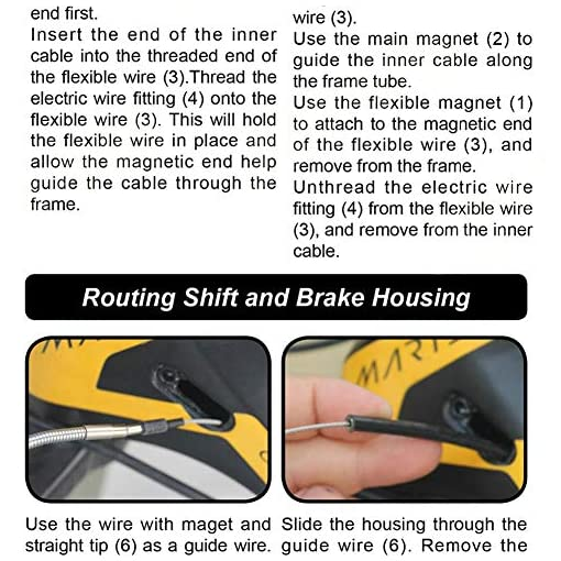 Alomejor Utensile per Passaggio dei Cavi Interno MTB Kit Cavo Cambio a Magnete