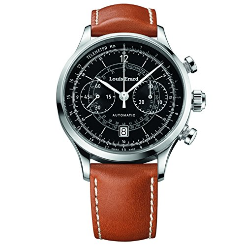 LOUIS ERARD MEN'S LEATHER BAND STEEL CASE AUTOMATIC WATCH 71245AA02.BVD01