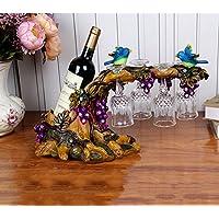 BJLL Creativo Rack Pavone Vino decorazioni Governo del vino regali di nozze casa di vetro ornamenti artigianali Holder ( design : A ) - Artigianale Di Vetro Ornamento