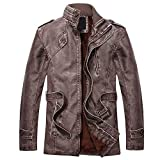 FRAUIT Herren Parka Lederjacke Wintermantel Herbst Winter Männer Junge Windbreaker Trenchcoat Windjacke Slim Zipper Vlies Jumper Segeljacke Warme Luxuriös Wildleder Pelzmantel Fliegerjacke L-4XL