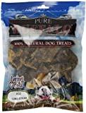 Pure Buffalo Lung Steak - 100% Natural Dog Treats Made From Tasty Lung Steak And Superb Alternative To Beef - In A Reseable Bag To Help Keep The Treats Fresh - 4Oz