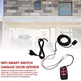 WiFi Wireless Remote Control Graffiti Garage Compatible Door Openers Using Smart Phone for Amazon Alexa Google Assistant Enabled Devices White