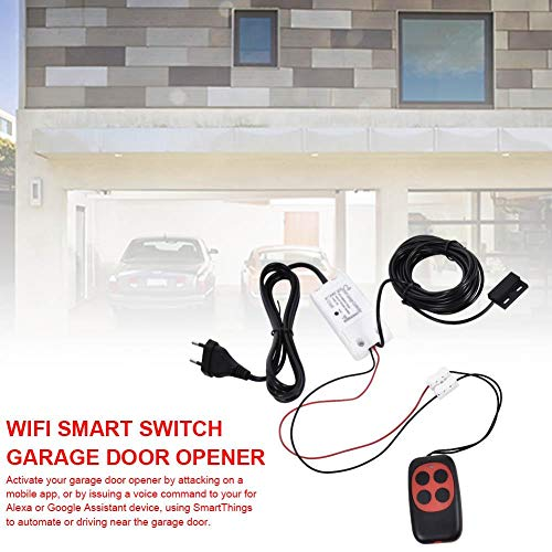 WiFi Wireless Remote Control Graffiti Garage Compatible Door Openers Using Smart Phone for Amazon Alexa Google Assistant Enabled Devices White Garage Door Remote