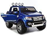 Elektroauto für Kinder Ford Ranger Blau Lackiert