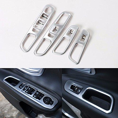 LITTOU Auto Fenster Lift Schalter Rahmen Für Auto Zubehör (4 Stücke) - Auto-rahmen