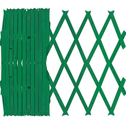 Sti traliccio in legno verde grigliato estensibile 120x180 cm per piante e fiori