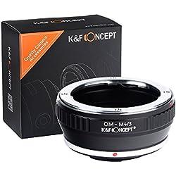 K&F CONCEPT Adaptateur de Monture pour Objectif Olympus Om à Caméra Micro 4/3 Adaptateur pour Appareil Photo Micro 4/3 Bague d'adaptation Noir en Métal