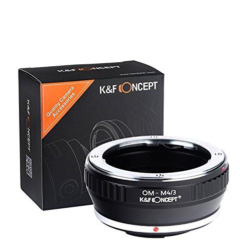 K&F Concept OM-M4/3 Objektiv Adapter Objektivadapter Adapterring für Olympus OM Objektiv auf Micro 4/3 M4/3 Four Thirds Systemkamera Four Thirds Adapter