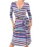 Clothing : Blue Banana - Printed Wrap Dress