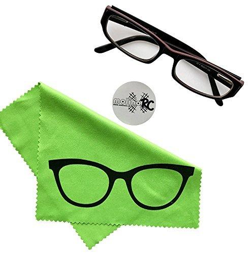 Mikrofaser Brillenputztuch - Brille - grün - groß - 18cm x 14,5cm - Putztuch Displayputztuch Reinigungstuch für Kamera iPad iPhone Tablet PC