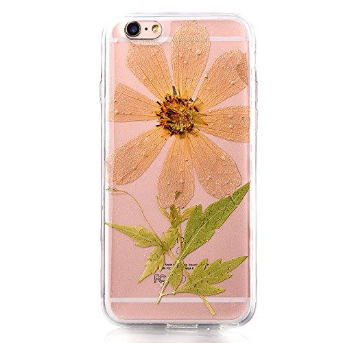 """iPhone 6sPlus Schutzhülle, iPhone 6Plus Soft TPU Handytasche, CLTPY Modisch Durchsichtige Rückschale im Getrocknete Blumenart, [Stoßdämpfung] & [Kratzfeste] Full Body Case für 5.5"""" Apple iPhone 6Plus/ Flower 17"""