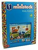 Ministeck 31584 - Baustelle 4 in 1, Steckplatte, Zubehör, ca. 1200-Teile