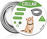 Cypin Flea and Tick Collar for Cats, 8 Months Effective Protection Waterproof Dog Anti Flea Collar, Adjustable Length 15 Inches Fits for Cats and Small Pets (15 inch for cat)
