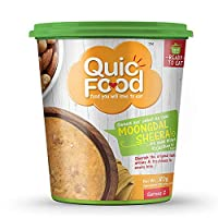 QuicFood Moongdal Sheera Ready to Eat Food (Freeze Dried) Indian Sweet Dish of Approx 120 gm Re-hydrated Weight (net Weight 80 gm)