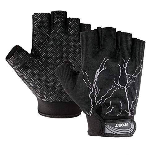 Aundiz Fingerlos Handschuhe Rutschfeste Handschuhe Motorrad Handshuhe Sports Radfahren Handschuhe für Herren - Strass Damen Handschuh